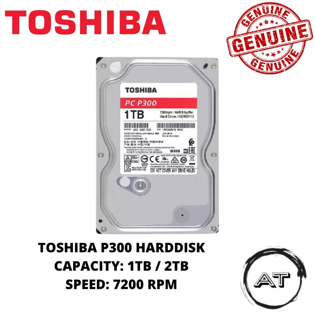"Toshiba Harddisk 1TB / 2TB 3.5"" Internal Desktop Hard Drive HDD (HDWD110)"