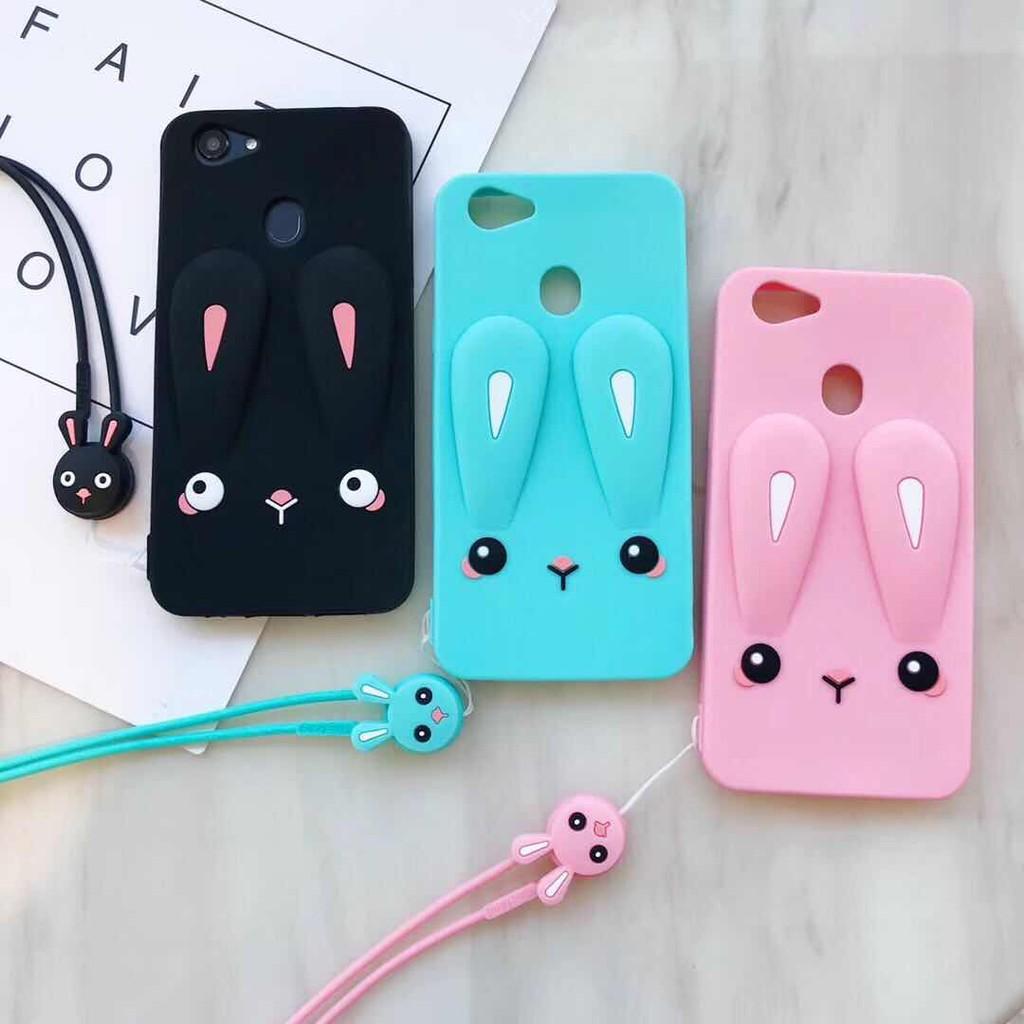 OPPO A83 A3S F9 F7 F5 F3 Plus F1s A71 Silicone Case Cute Cartoon Rabbit Ears