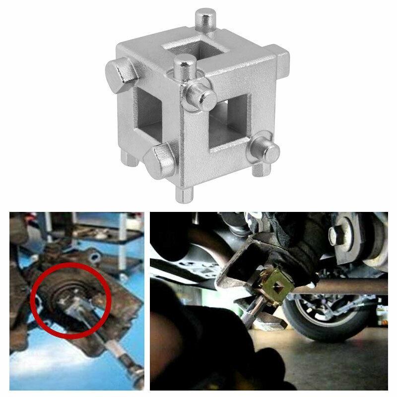 Silver 3//8 Disc Brake Piston Spreader Tool Universal Car Vehicle Rear Drive Disc Brake Piston Remover Tool Caliper Wind Back Cube Calliper Adaptor