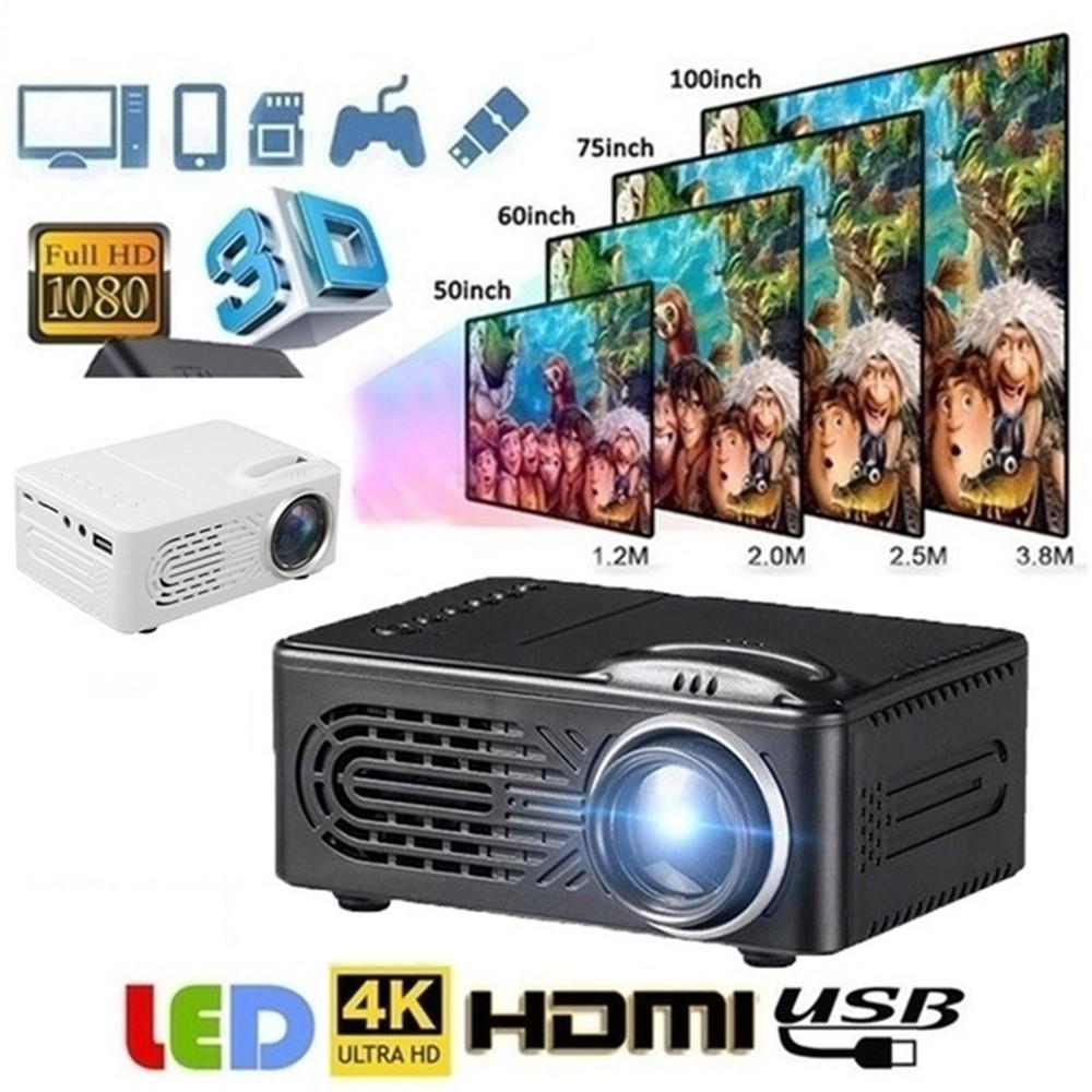7000 Lumens 3D Home Cinema Theater LED Projector 1080P FHD HDMI AV USB VGA MY