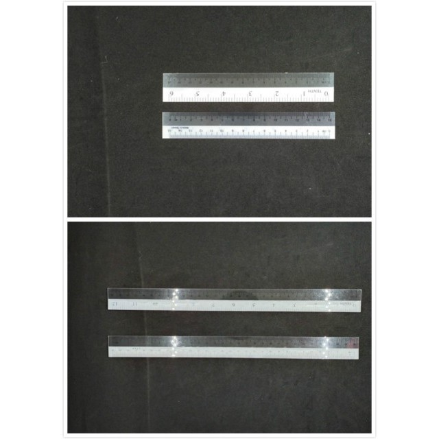 Dual Color Plastic Ruler Plastic Straight Ruler 6 inch Plastic Straight Ruler 12 inch Plastic Ruler