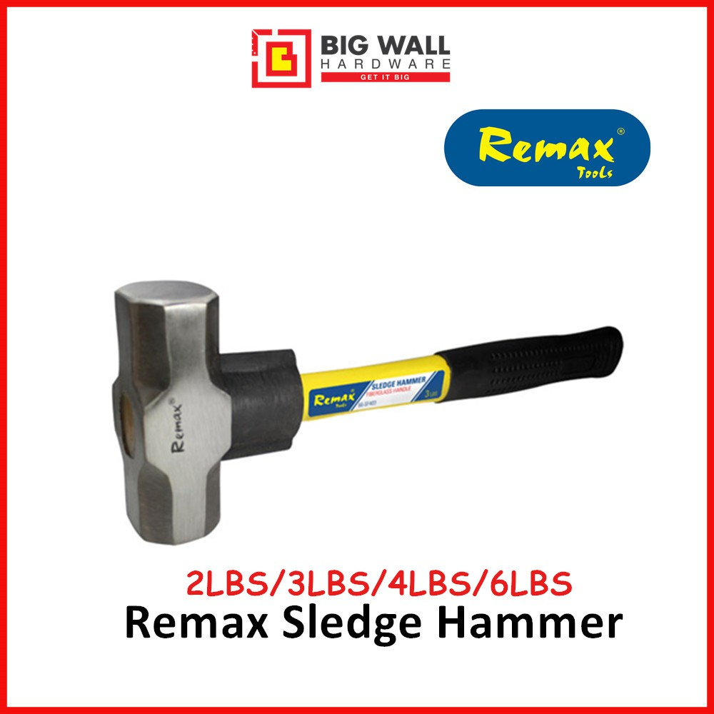 Remax Sledge Hammer (2/3/4/6 LBS)Pemukul Besar