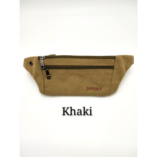 Unisex Outdoor Sport Canvas Waist Fanny Pack Phone Pouch Belt Bag Travel Jogging