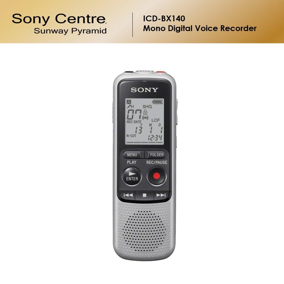 Sony ICD-BX140 Mono Digital Voice Recorder BX Series