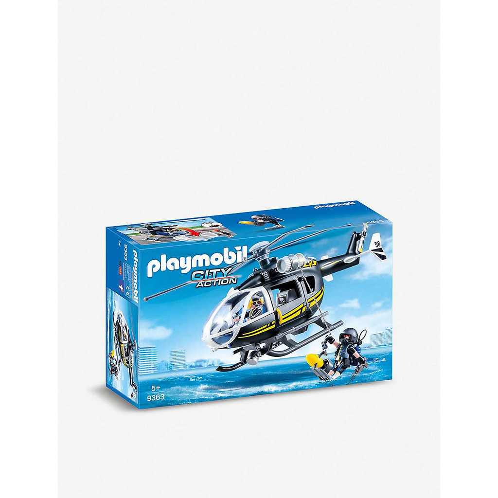 Playset Playmobil Helicopter Swat Action City m80NOyvnw