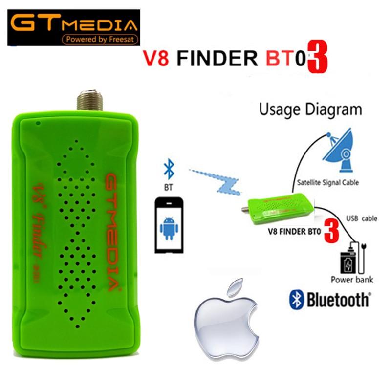 ❰Ready Stock❱ GTMedia V8 Satellite Finder BT03 Mini Satfinder Portable DVB  S2