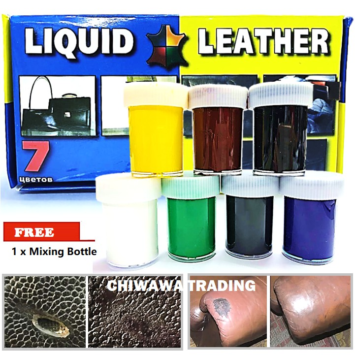 DIY 7 Color Liquid Filler Leather Repair Tool Kit Car Seat Sofa Coat Handbag Scratch Crack Hole Rips Skin Restore