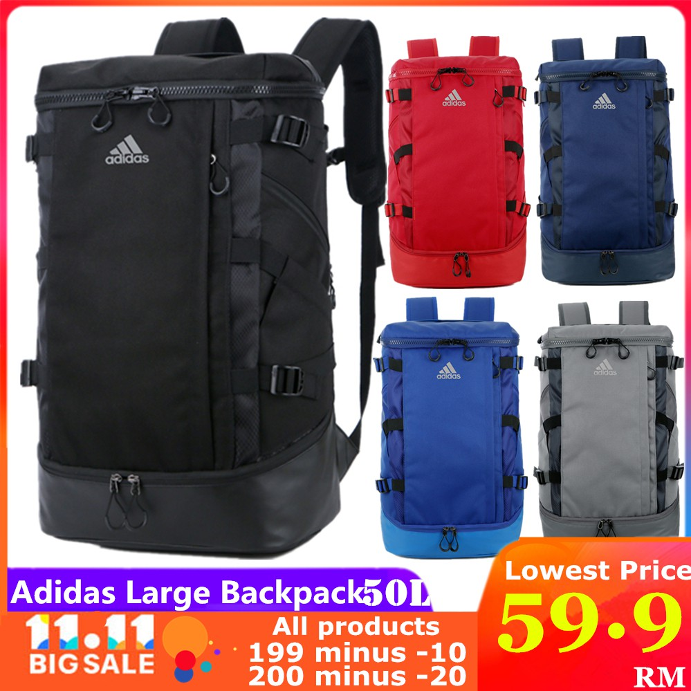 Adidas 3d Roll Top Backpack Shopee Malaysia Tas Travel Gear Back Pack Navy Original