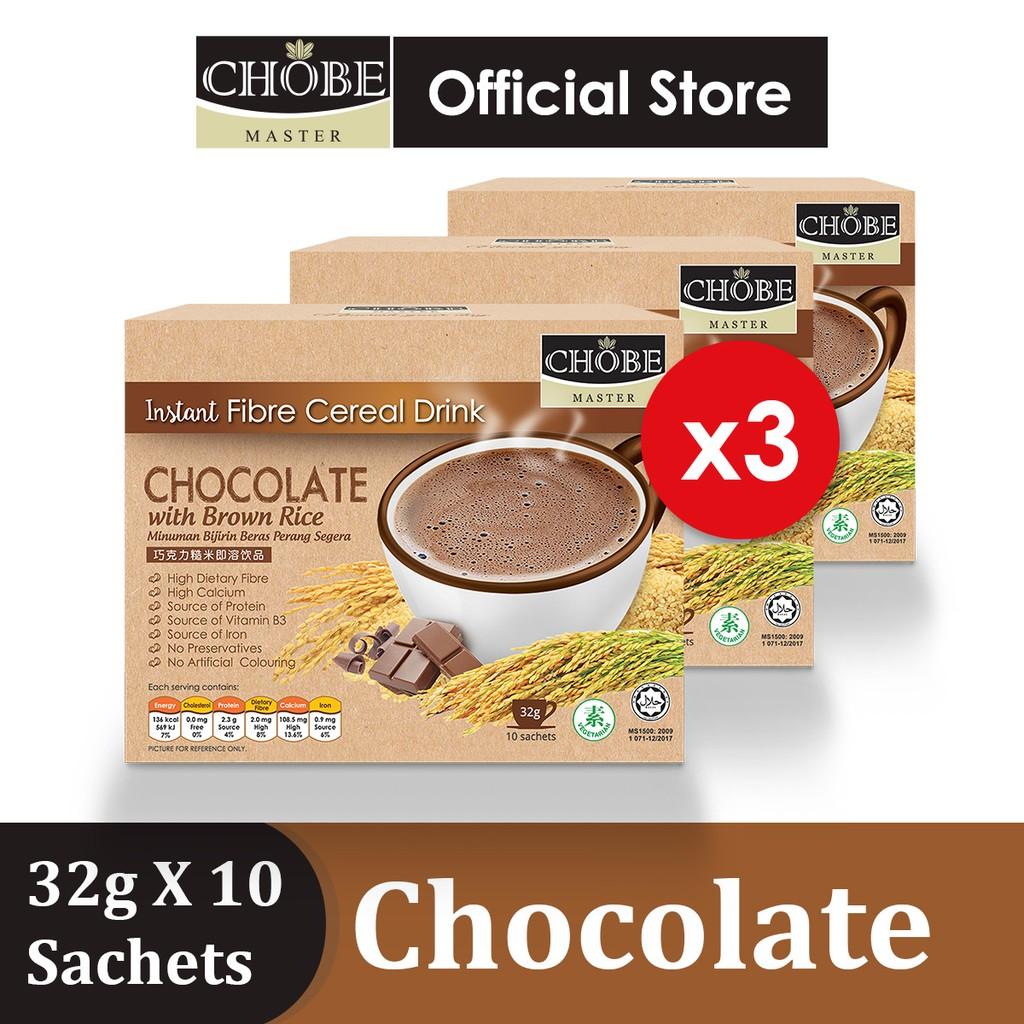 【RAYA PROMO】Chobe Master® Brown Rice Drink【Chocox3 + FREE Lassi Yogurt 50g】