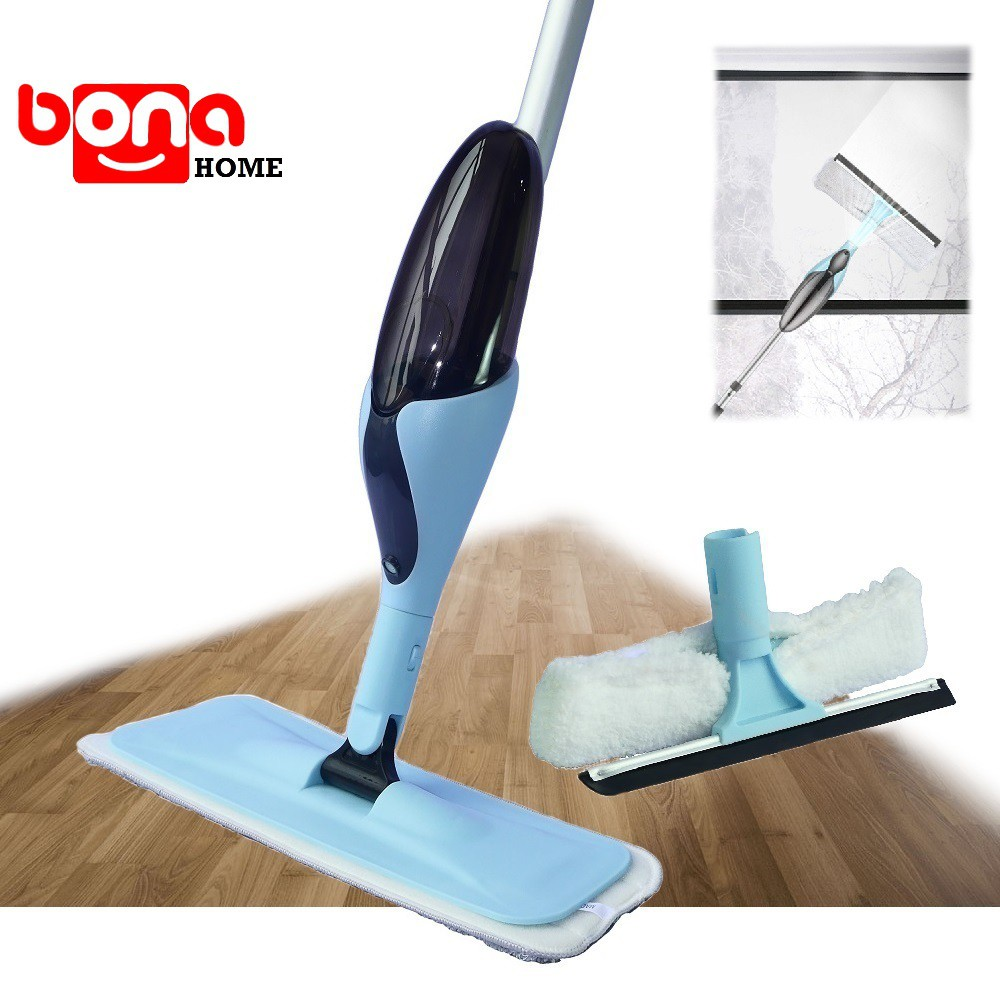 Microfiber Flat Mop With 2PCS Replaceable Pads Stainless Steel Handle Magic Dust