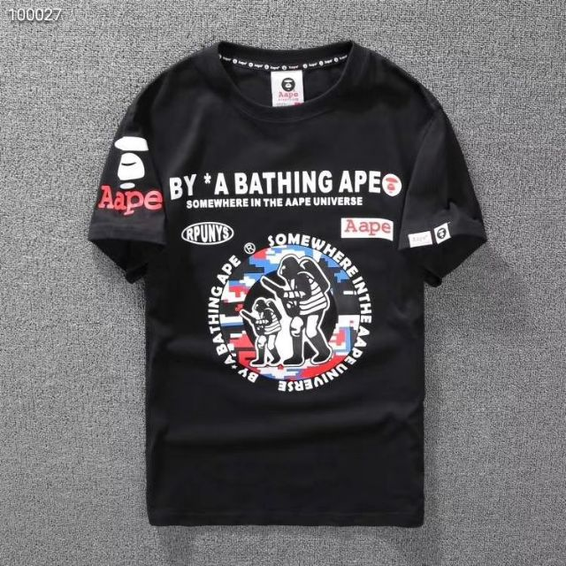 0369f551 Aape BY A BATHING APE, Ape Hunter logo 100% cotton t-shirt roundneck  shortsleeve | Shopee Malaysia