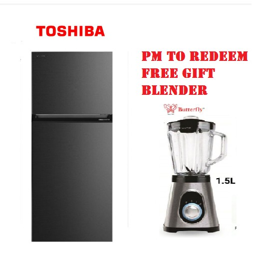 TOSHIBA 530L INVERTER 2 DOORS REFRIGERATOR FRIDGE GR-RT624WE-PMY(06) peti sejuk peti ais