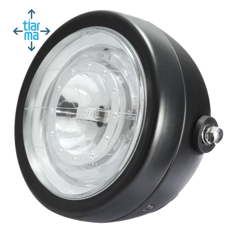 6.5/'/' Universal Round LED Motorcycle Headlight Blue Halo Angle Eye High//Low Beam