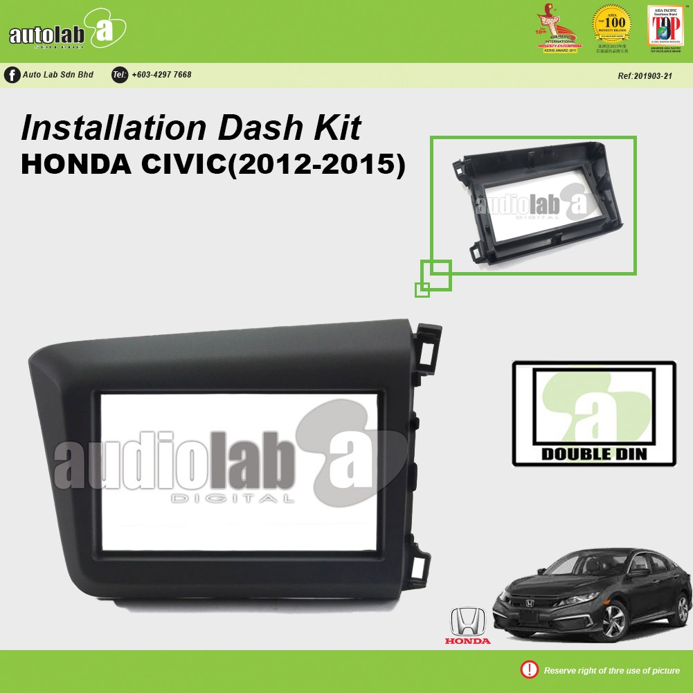 Player Casing Double Din Honda Civic 2012-2015
