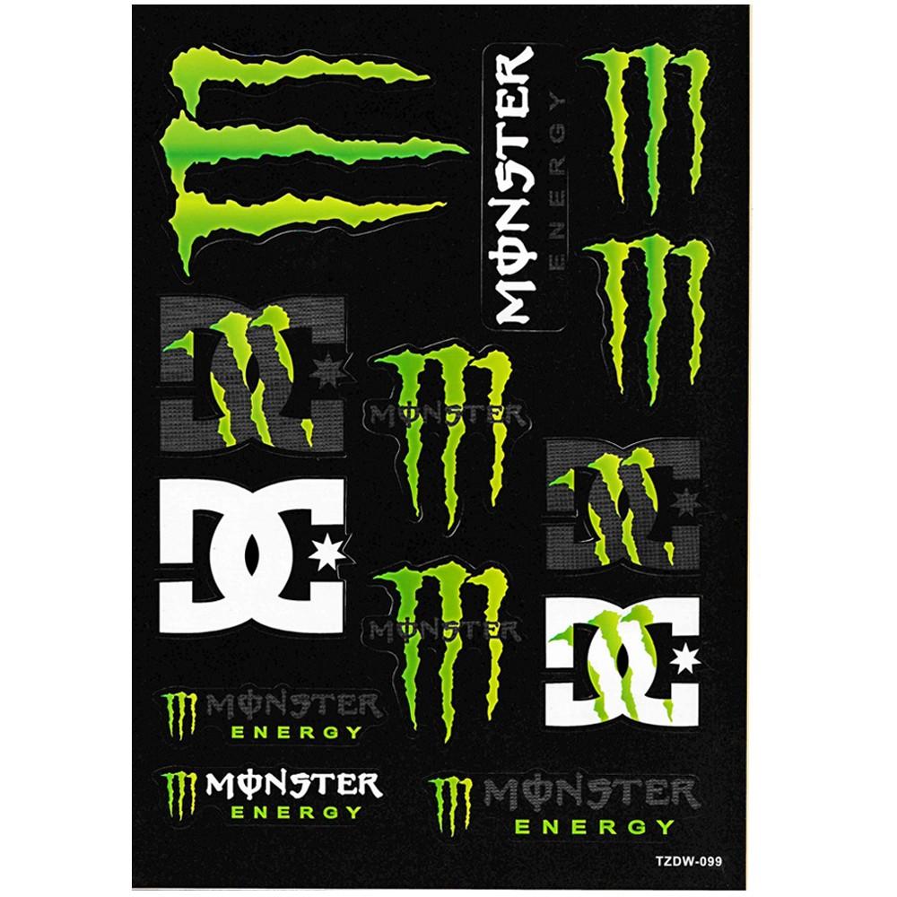 Monster Energy Motocross Bike Racing Helmet Jdm Vally Car Sticker Decal