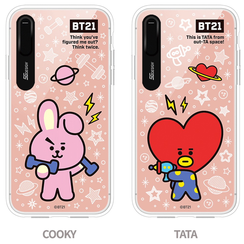 newest collection e45ad e4c23 BTS BT21 Official Merchandise- Basic Mirror Light Up Phone Case for Apple  iPhone