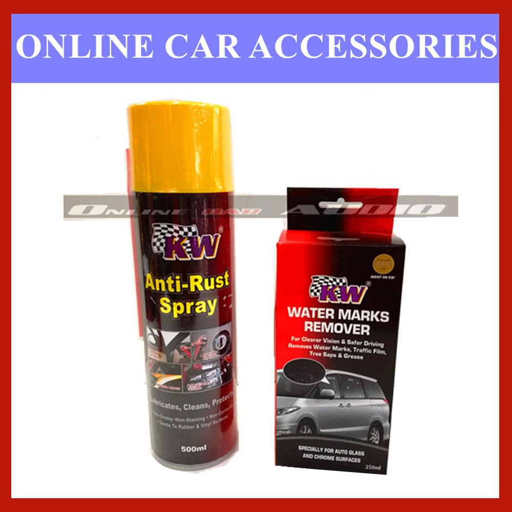 KW 1x Anti Rust Spray,1x Water Marks Remover (2 Item in Package)