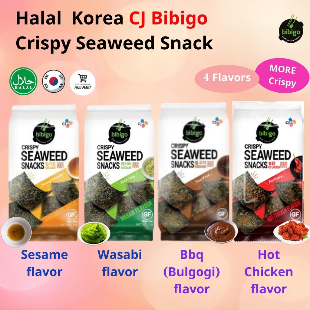 Halal Korea Crispy Seaweed Snack 4 Flavor (Hot Chicken/Wasabi/BBQ/Sesame) 韩国紫菜海苔