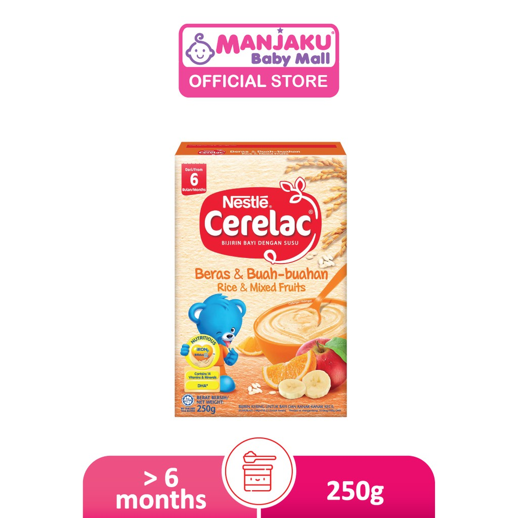Nestle Cerelac Infant Cereals with Milk Rice & Mixed Fruits (250g)