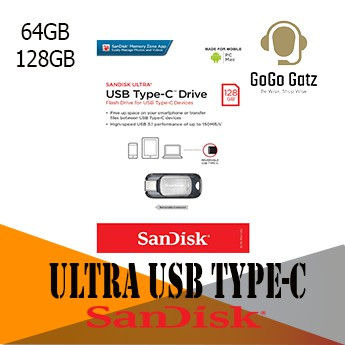 {Ship Out Within 24 Hours} SanDisk Ultra USB Type-C Flash Drive - 64GB, 128GB