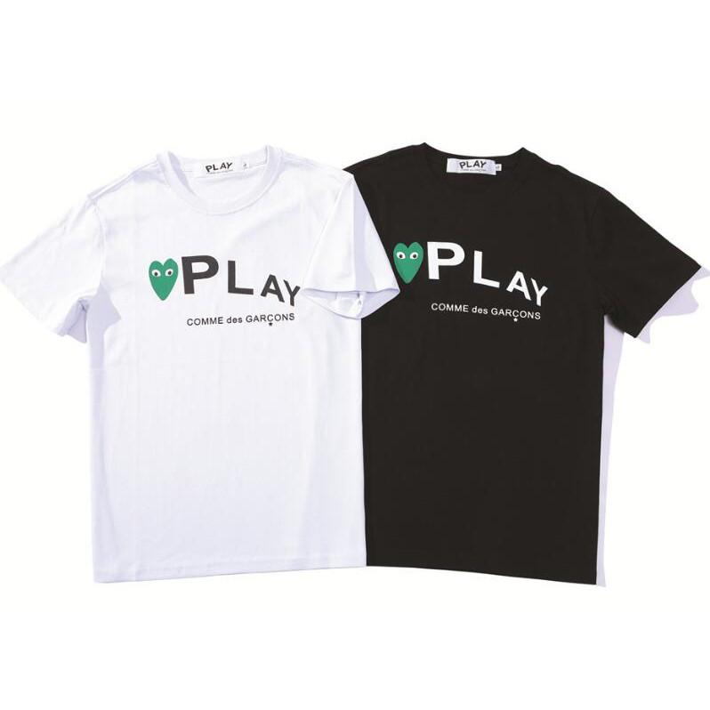 ad4b5b053fc All Cotton Unisex Comme des Garçons Tee Play Camouflage Double Heart T-Shirt