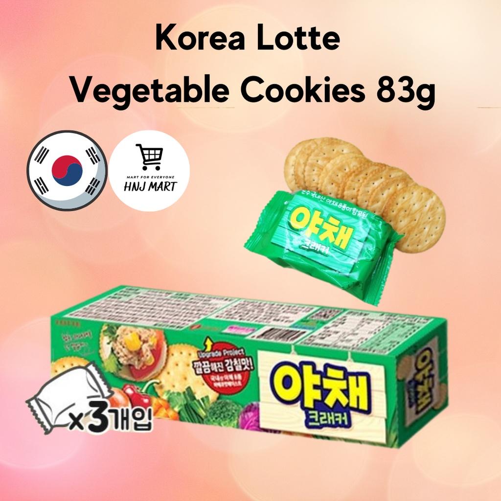 Korea Lotte Vegetable Cookies 83g Crispy Vegetable Biscuit