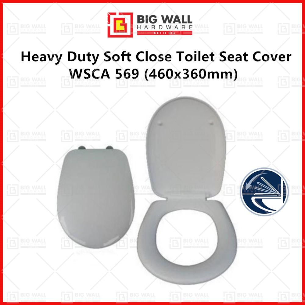 Heavy Duty Soft Close Toilet Seat Cover WSCA 569 460x360mm U Shape Big Wall Hardware
