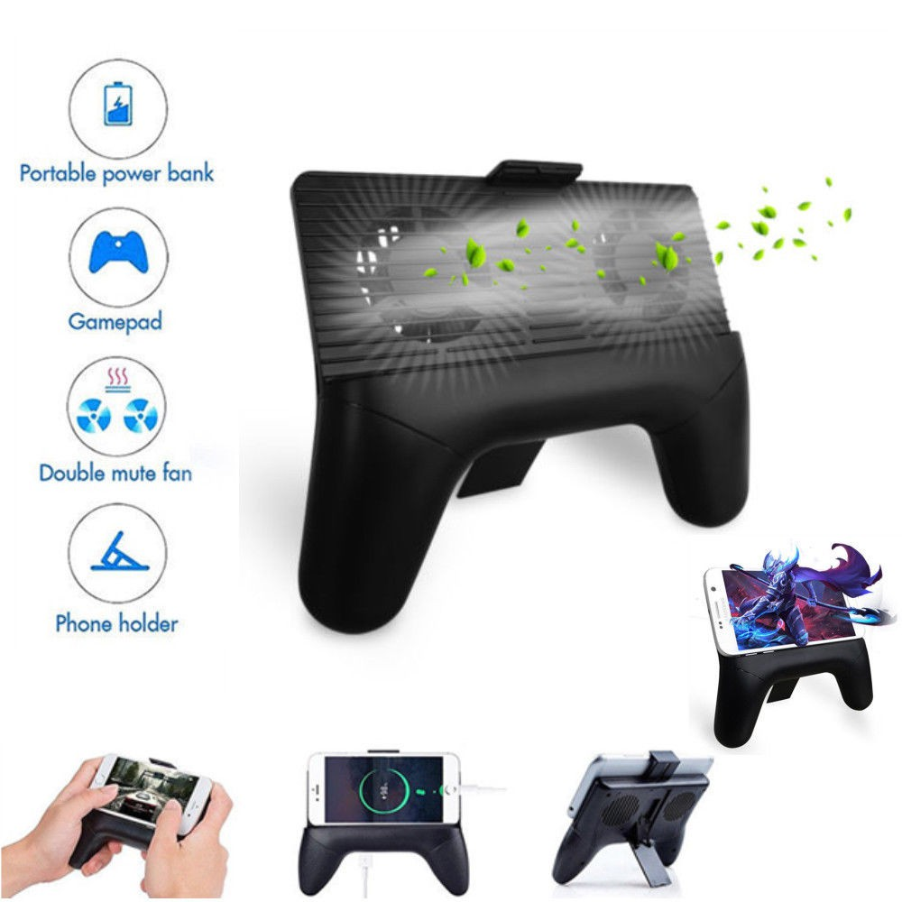 a0608d75c *Ready Stock* 3 in 1 Mobile Phone Cooling Fan Holder Stand Game Controller