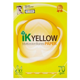 A4 Paper 70gsm  IK Yellow Multifunction Business Paper 450 sheets
