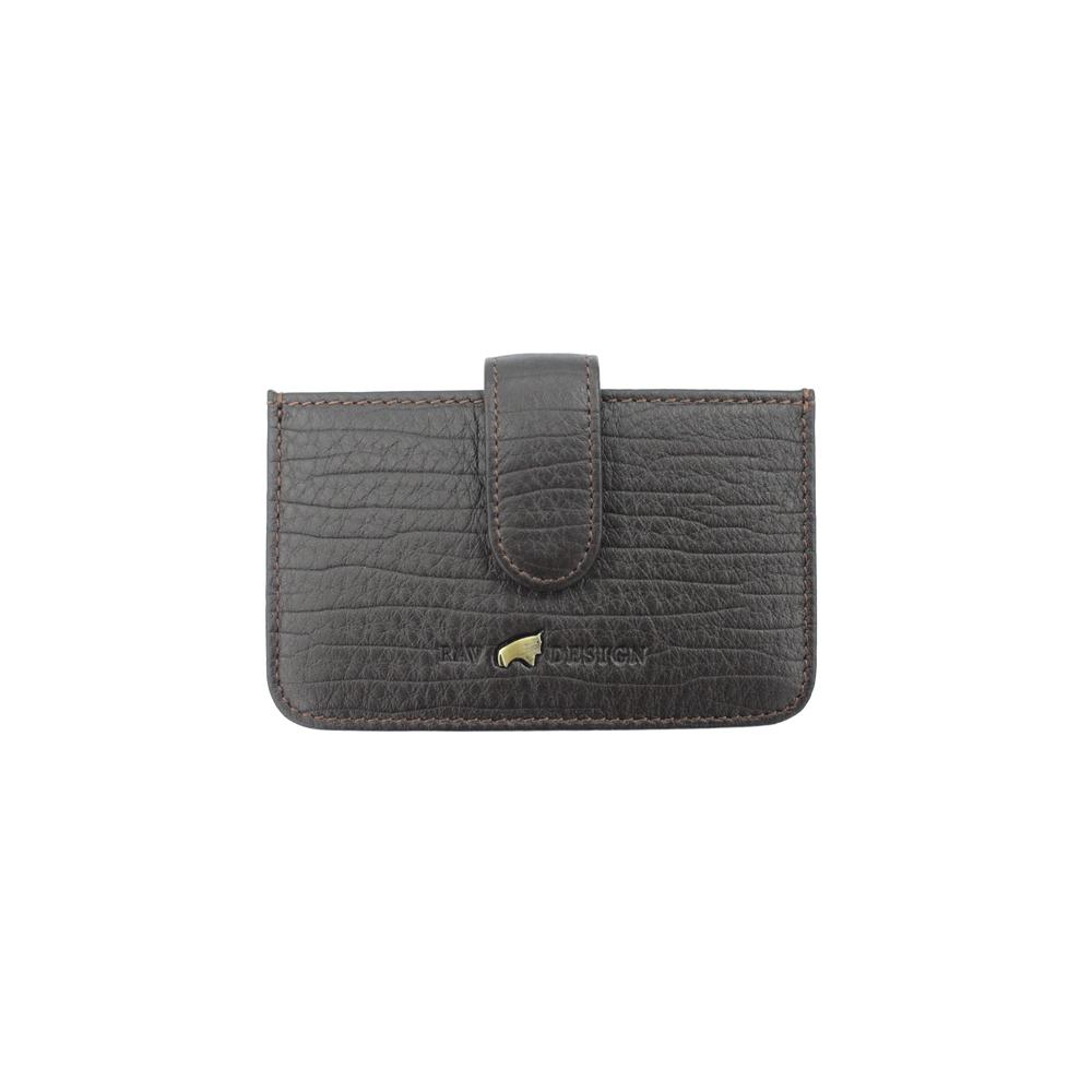 RAV DESIGN Men's Genuine Leather Anti-RFID Card Holder |RVW671G2 (C)