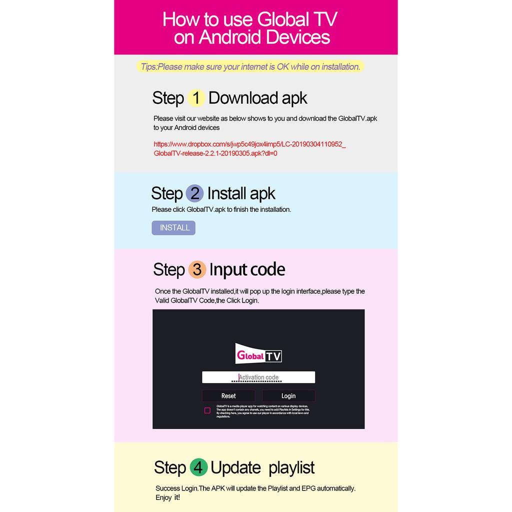 Global TV IPTV Europe 4500+ Live Channels / 8000+VOD for