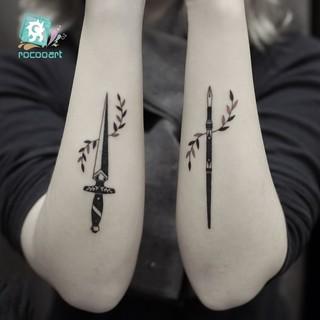 Katana Tattoo Sword Temporary Tatoo Sticker Samurai Fake Tattoo For Hand Body