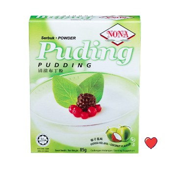 NONA Serbuk Puding Powder - Coconut Flavour @ 85g ( Free Fragile + Bubblewrap Packing )
