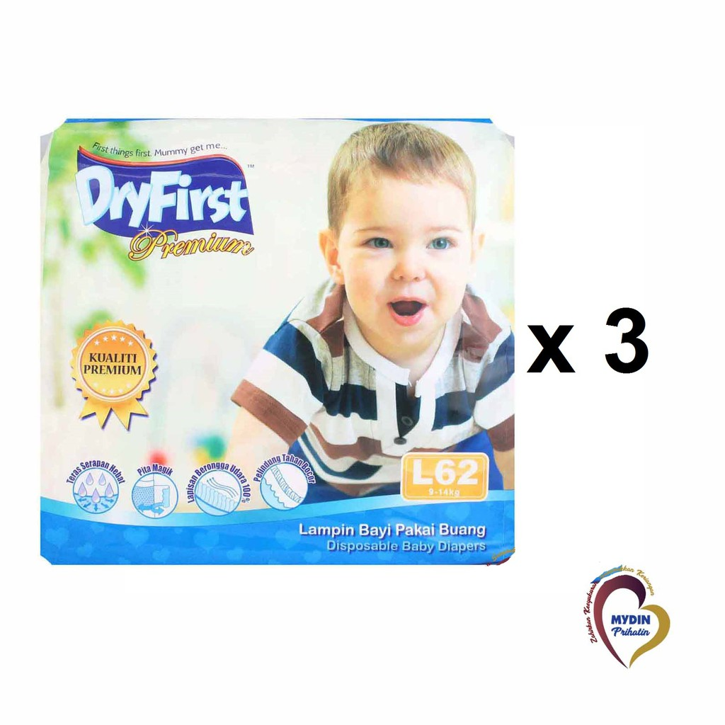 Dryfirst Premium Mega L64 (3 Pack)