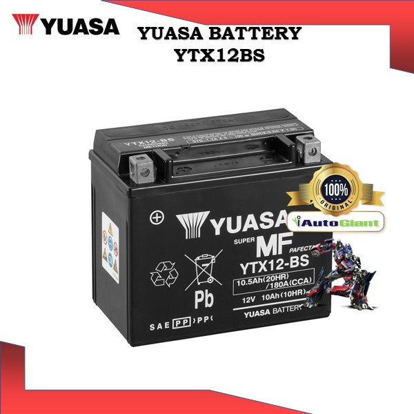 YUASA BATTERY YTX 12-BS