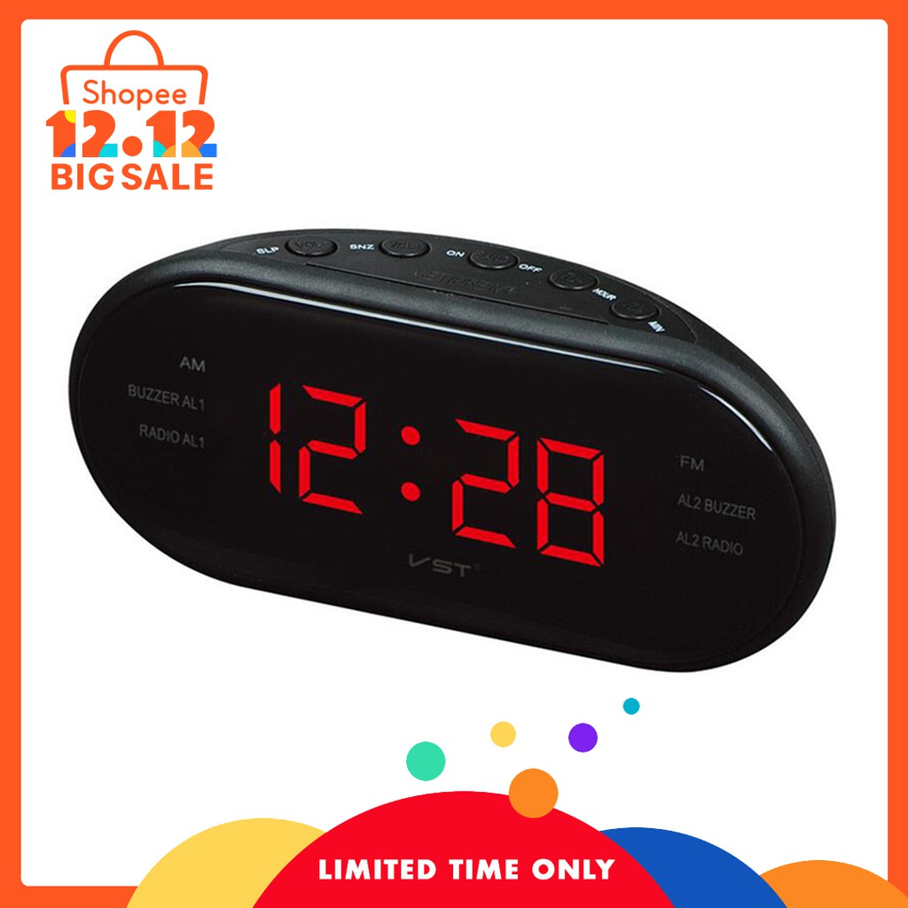 Mirror Clock Speaker Heavy Bass Radio Subwoofer Alarm Shopee Beeper Circuit With Malaysia