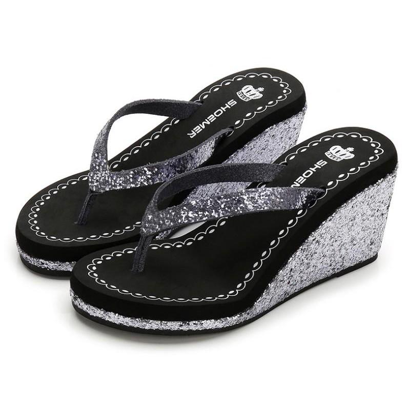 3ae5d9e1ca24 Summer bohemian sandals rhinestone flip flops women s shoes beach shoes