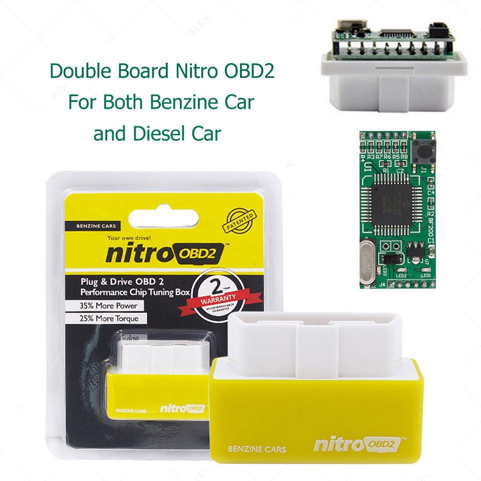 Nitro OBD2 Benzine/Diesel For Petrol Car Chip Tuning Performance 35% ECO  OBD2