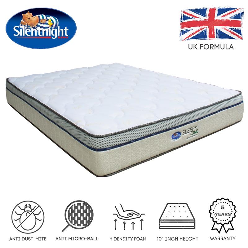 "[FREE SHIPPING] Silentnight Sleepy Zone 10"" high density foam mattress"