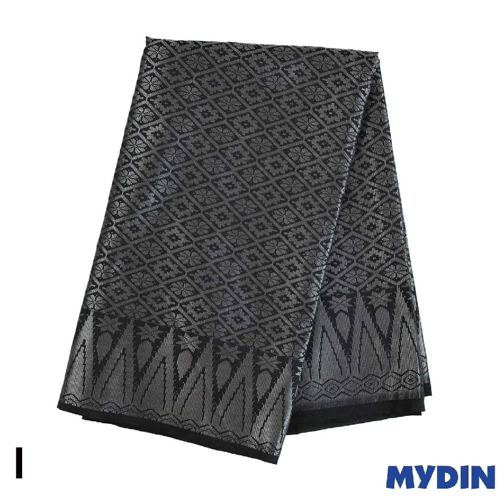 "Men Sampin - Silver on Black with Designs (2m X 32"") 0819SRLXBP02 - I #Raya"