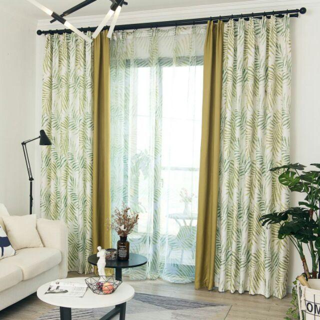 Curtain Langsir Sliding Door Tingkat Window Hot Langsir Bercorak Daun Shopee Malaysia