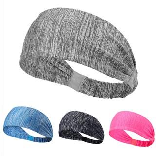 Unisex Sweatband Hairband Sports Headband Yoga Gym Soft Stretch Head Band W TURQ