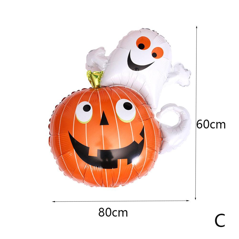 Halloween Giant Pumpkin Ghost Spider Foil Balloon Home Festival Party Decoration