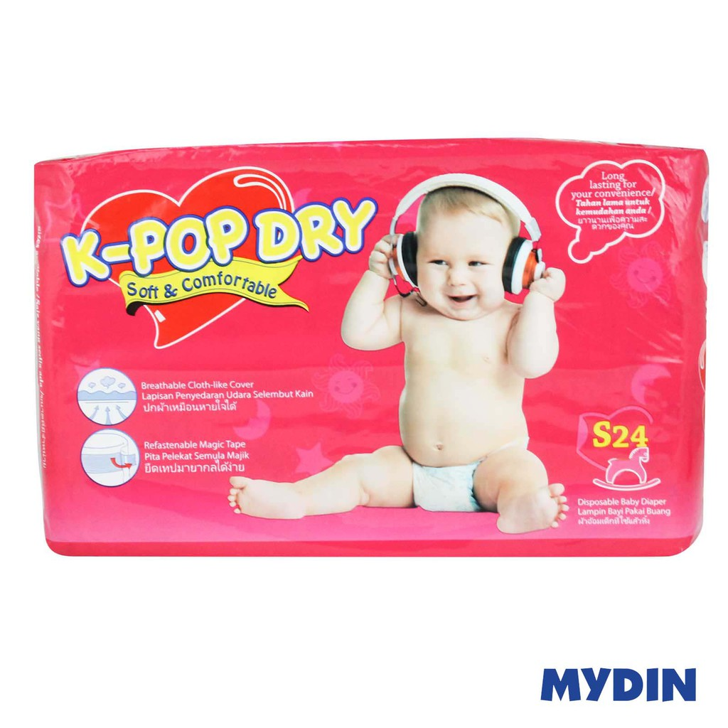 K-Pop Dry Disposable Baby Diapers S24