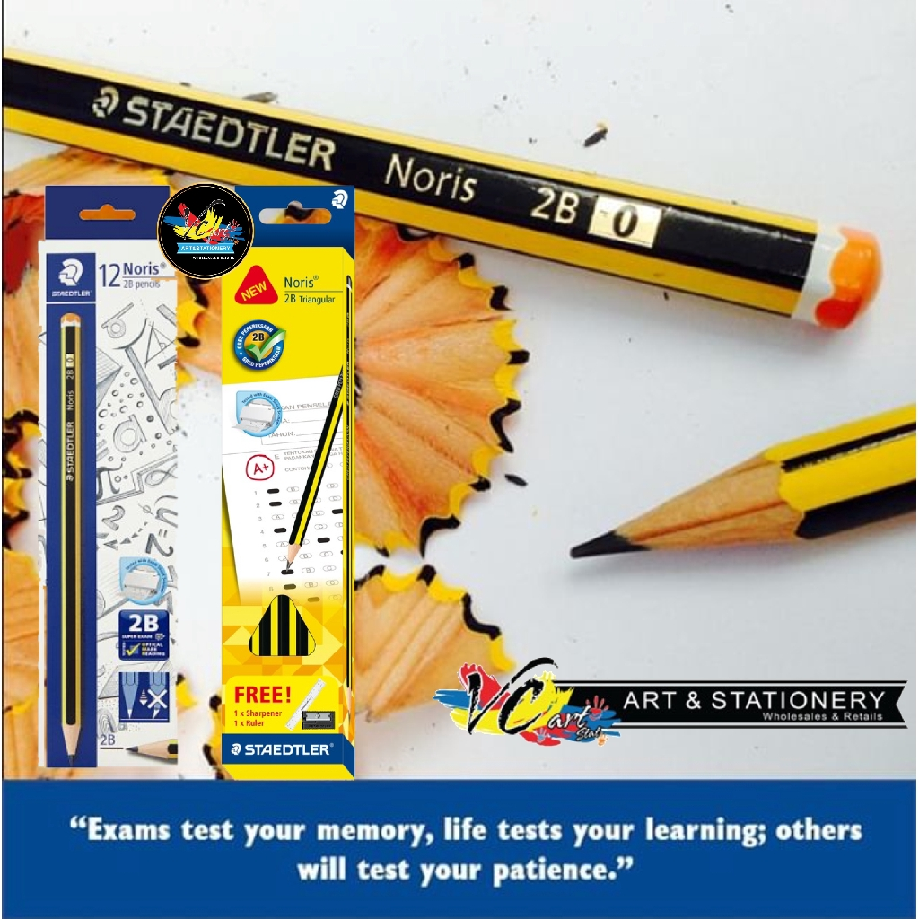 Staedtler Noris® 2B B,HB,H /& 2H //Set of 5 Pencils//High Quality//Easy Sharpen//Art
