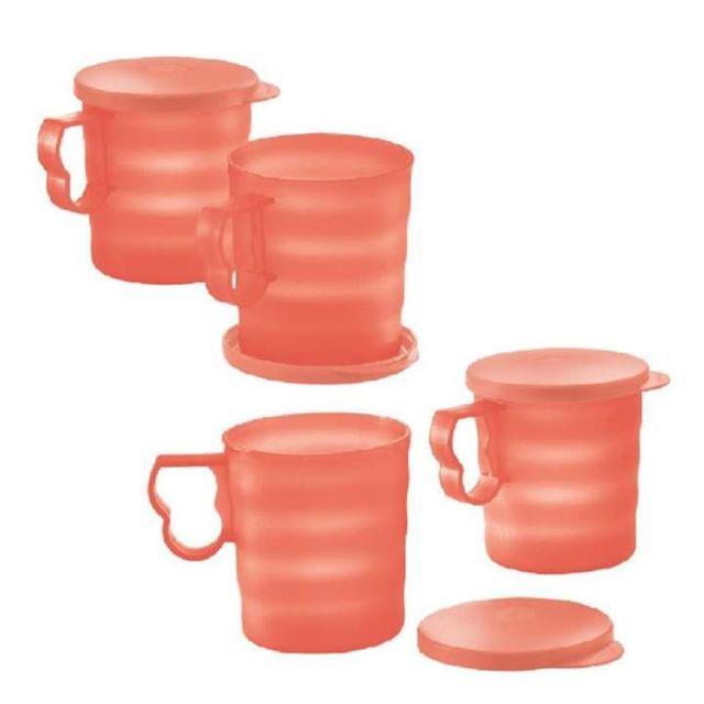 Tupperware Blossom Mug with Seal 350ml (4pcs) / Mug Tupperware