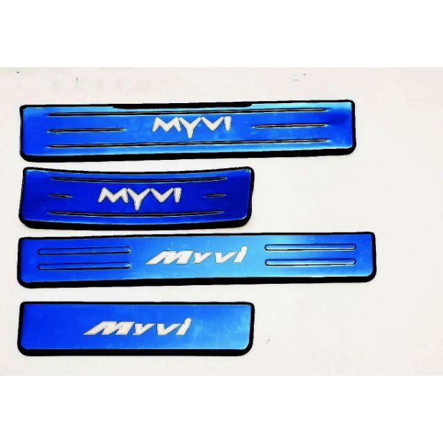 Perodua Myvi 2018 -2019 Side Sill Plate Blue Colour 4 pcs Stainless Steel