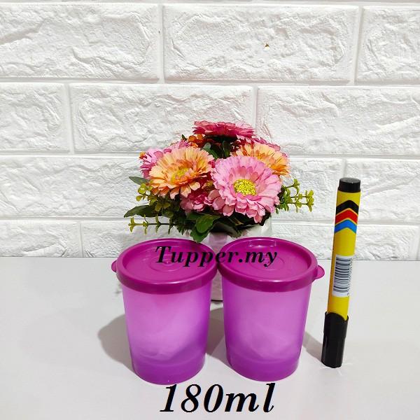*1pc/2pcs*Tupperware Stay Cool Duo 180ml purple Round keeper multipurpose