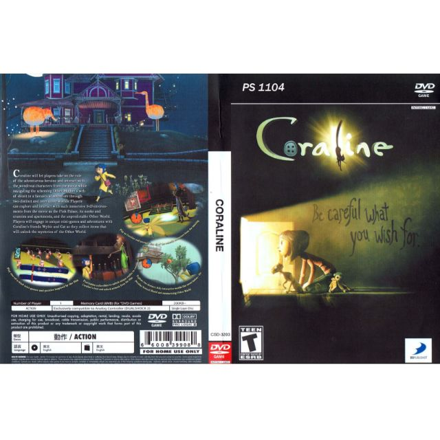PS2 Games CD Collection Coraline