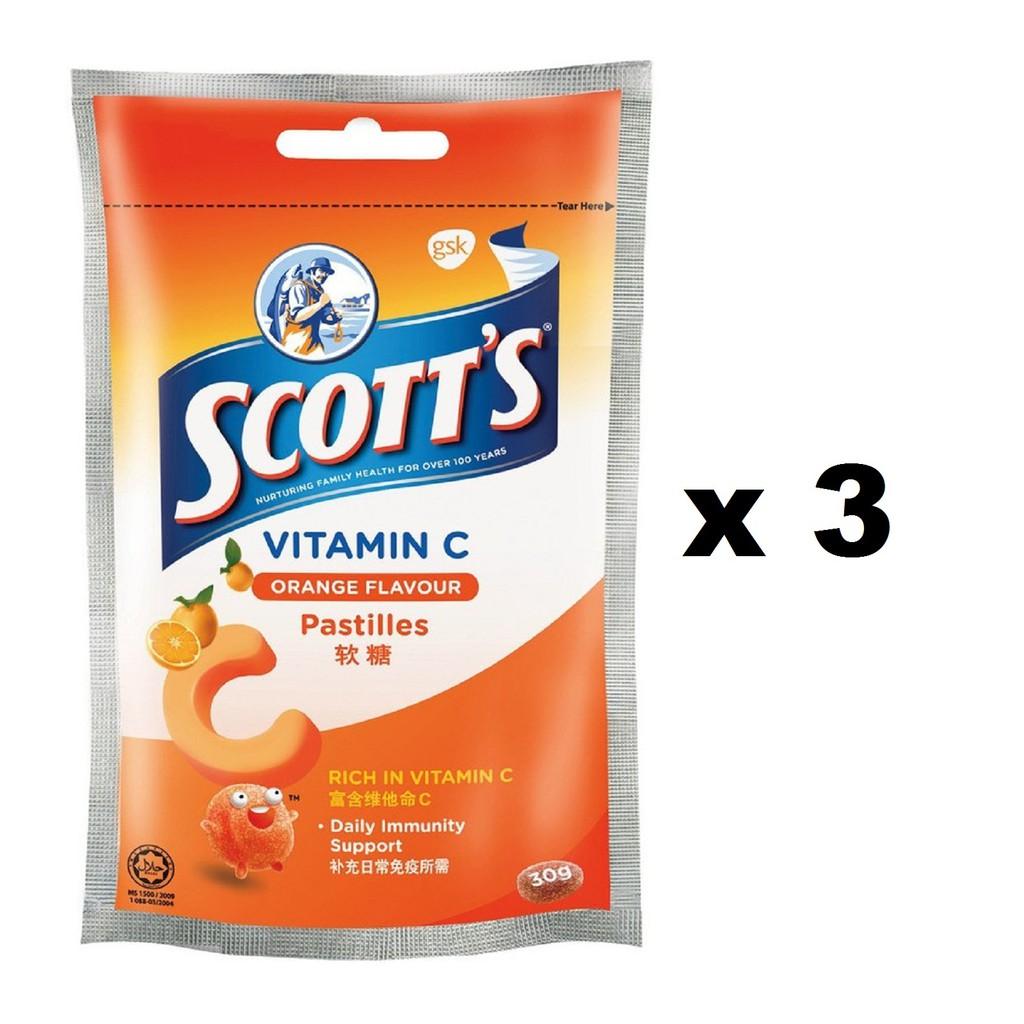Scotts Vitamin C Pastille 15s Orange Zipper 3x